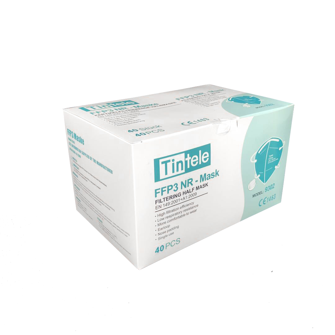 FFP3 Atemschutzmaske Tintele 9302 mit CE1463 Vollzertifizierung (1000 Stück)