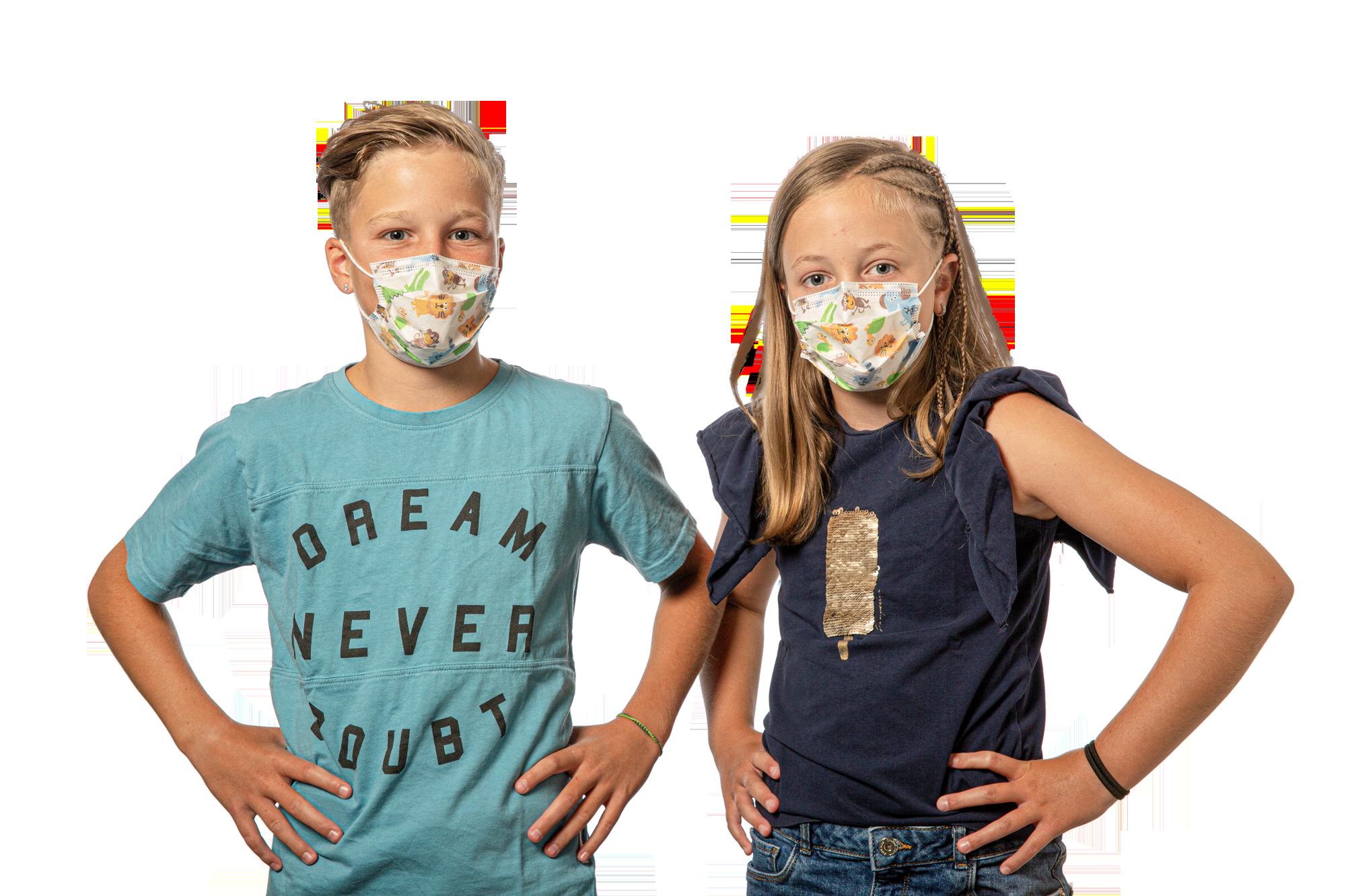 Kinderschutzmaske BFE 95 lose verpackt (50 Stück)